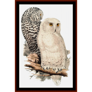 Snowy Owls - Wildlife cross stitch pattern by Cross Stitch Collectibles | Crafting | Cross-Stitch | Wall Hangings