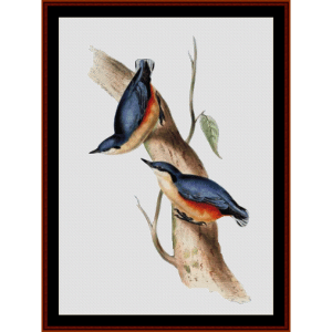 Common Nuthatch - Wildlife cross stitch pattern by Cross Stitch Collectibles | Crafting | Cross-Stitch | Wall Hangings