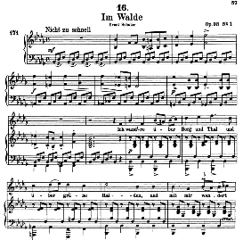 Im Walde D.708, High Voice in B Flat Minor, F. Schubert (Pet.) | eBooks | Sheet Music