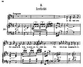 Irrlicht D.911-9, High Voice in B Minor, F. Schubert (Winterreise) Pet. | eBooks | Sheet Music