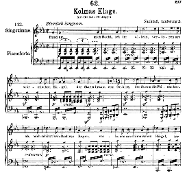 Kolma's Klage D.217 in C Minor, High Voice, F. Schubert (Pet.) | eBooks | Sheet Music
