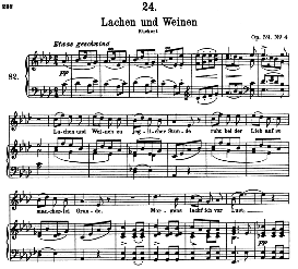 Lachen und Weinen D.777, High Voice in A Flat Major, F. Schubert (Pet.) | eBooks | Sheet Music