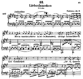 Liebeslauschen D.698, High Voice in A Major, F. Schubert (Schwanengesang) Pet. | eBooks | Sheet Music