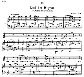 Lied der Mignon D.877-4 Nur wer die sehnsucht kennt, High Voice in A Minor, F. Schubert  (Pet.) | eBooks | Sheet Music