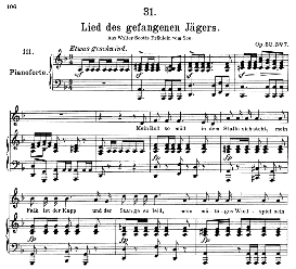 Lied des gefangenen Jäger's D.843, High Voice in D Minor, F. Schubert (Pet.) | eBooks | Sheet Music