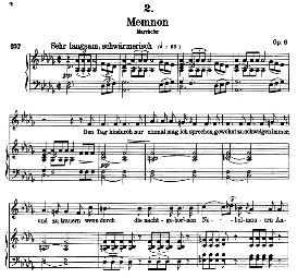 Memnon D.541, High Voice in D Flat Major, F. Schubert (Pet.) | eBooks | Sheet Music