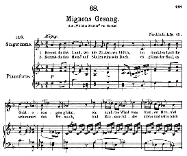 Mignon D.321 Kennst du das Land, High Voice in F Major, F. Schubert (Pet.) | eBooks | Sheet Music