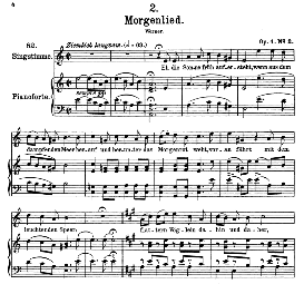Morgenlied D.685, High Voice in A Minor, F. Schubert (Pet.) | eBooks | Sheet Music