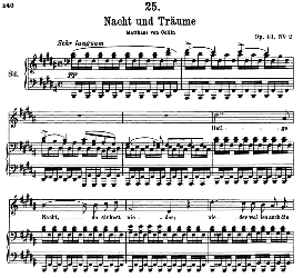 Nacht und Träume D.827, High Voice in B Major, F. Schubert (Pet.) | eBooks | Sheet Music