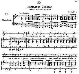 Normanns gesang D.846, High Voice in C Minor, F. Schubert (Pet.) | eBooks | Sheet Music