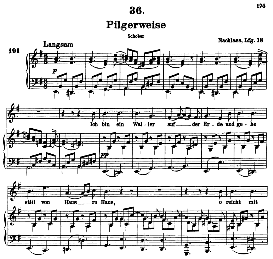 Pilgerweise D.789, High Voice in E Minor, F. Schubert (Pet.) | eBooks | Sheet Music