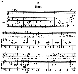 Rast D.911-10, High Voice in C Minor, F. Schubert (Winterreise) Pet. | eBooks | Sheet Music