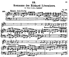 Romanze des Richard Löwenherz D.856, High Voice in B Minor, F. Schubert (Pet.) | eBooks | Sheet Music
