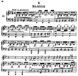 Rückblick D.911-8, High Voice in F Minor, F. Schubert (Winterreise) Pet. | eBooks | Sheet Music