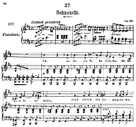 Sehnsucht D.636 Ach, aus dieses Tales Gründen, High Voice in B Minor, F. Schubert (Pet.) | eBooks | Sheet Music