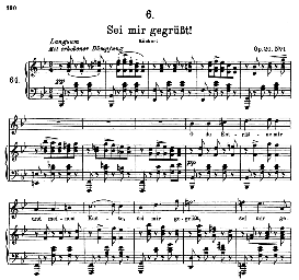 Sei mir gegrüsst! D.741, High Voice in B Flat Major, F. Schubert (Pet.) | eBooks | Sheet Music