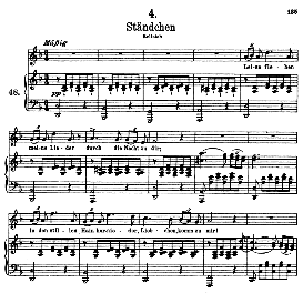 Stândchen D.957-4 Leise flehen meine Lieder,High Voice in D Minor, F. Schubert (Schwanengesang) Pet. | eBooks | Sheet Music