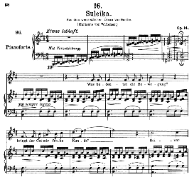 Suleika I D.720, High Voice in B Minor, F. Schubert  (Pet.) | eBooks | Sheet Music