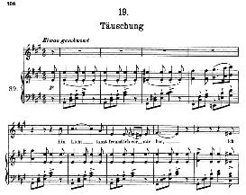Täuschung D.911-19, High Voice in A Major, F. Schubert (Winterreise) Pet. | eBooks | Sheet Music