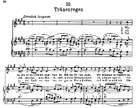 Tränenregen D.795-10, High Voice in A Major, F. Schubert (Die Schöne Müllerin) Pet. | eBooks | Sheet Music