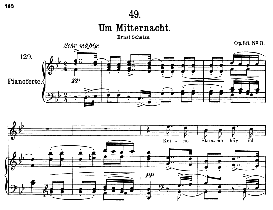 Um Mitternacht D.862, High Voice in B Flat Major, F. Schubert (Pet.) | eBooks | Sheet Music