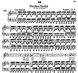 Waldes Nacht D.708, High Voice in E Flat Major, F. Schubert (Pet.) | eBooks | Sheet Music