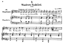 Wanderers nachtlied D.224 Der du von dem himmel bist, High Voice in G Flat Major, F. Schubert | eBooks | Sheet Music
