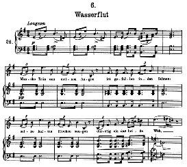 Wasserflut D.911-6, High Voice in E Minor, F. Schubert (Pet.) | eBooks | Sheet Music