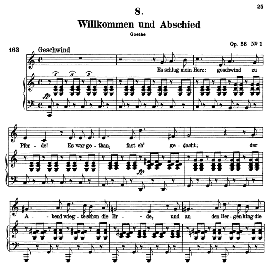 Willkomen und abschied D.767, High Voice in C Major, F. Schubert (Pet.) | eBooks | Sheet Music