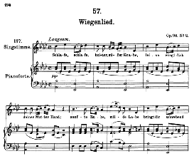 Wiegenlied (Lullaby) D.498 Schlafe, schlafe... , High Voice in A Flat Major, F. Schubert (Pet.) | eBooks | Sheet Music