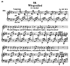 Wiegenlied D.867, High Voice in A Flat Major, F. Schubert (Pet.) | eBooks | Sheet Music