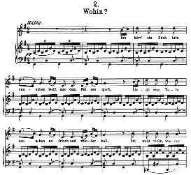 Wohin D.795-2, High Voice in G Major, F. Schubert (Die Schöne Müllerin) Pet. | eBooks | Sheet Music