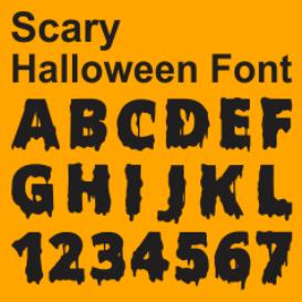 scary hallowen font