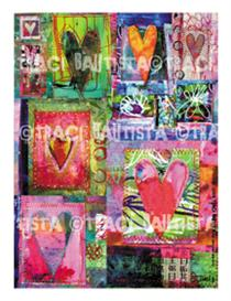 hearts digital collage sheet by Traci Bautista | Other Files | Arts and Crafts