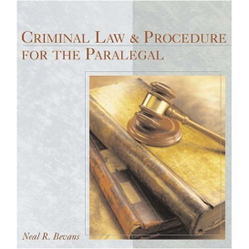 full test bank for criminal law and procedure for the paralegal
