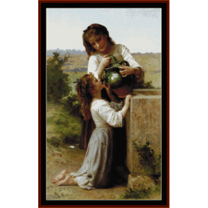 At the Fountain - Bouguereau  cross stitch pattern by Cross Stitch Collectibles | Crafting | Cross-Stitch | Wall Hangings