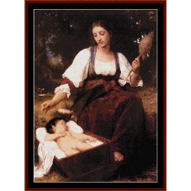 berceuse, 1875 - bouguereau  cross stitch pattern by cross stitch collectibles