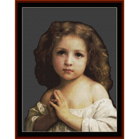 prayer, 1878 - bouguereau  cross stitch pattern by cross stitch collectibles