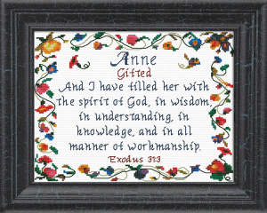 Name Blessings - Anne | Crafting | Cross-Stitch | Religious