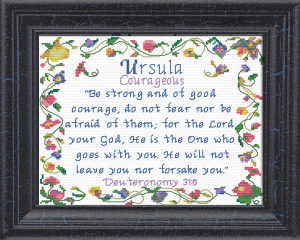 Name Blessings -  Ursula | Crafting | Cross-Stitch | Religious