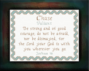 Name Blessings - Chase | Crafting | Cross-Stitch | Religious