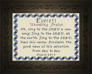 Name Blessings -  Everett | Crafting | Cross-Stitch | Religious