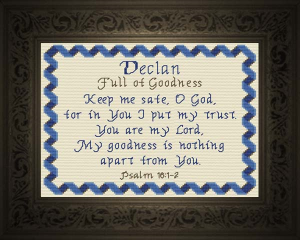 Name Blessings - Declan | Crafting | Cross-Stitch | Other