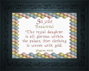 Name Blessings - Sayde | Crafting | Cross-Stitch | Other