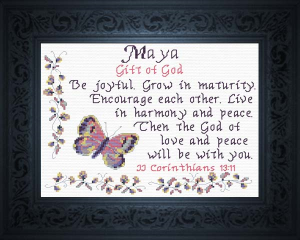 Name Blessings - Maya | Crafting | Cross-Stitch | Other