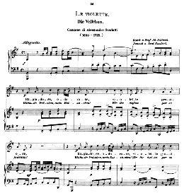 Le violette, Medium Voice in G Major, A. Scarlatti, Caecilia, Ed. André (1894) Vol.1, 906-a | eBooks | Sheet Music