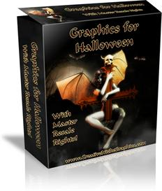 Halloween Minisites Graphics Pack with Resell Rights