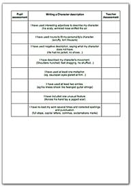 year 6 fiction checklists