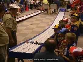 plans to build a pinewood derby 4 lane track,boy scouts