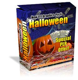 111 halloween graphics package with resale rights plr